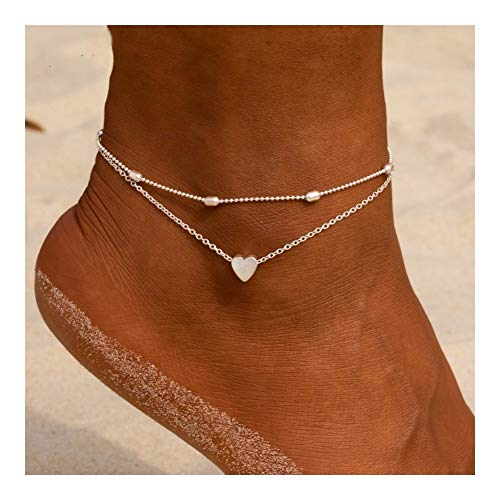 KXLB Kxlbhjxb Joyería del corazón for el Tobillo Descalzo Ganchillo Sandalias del pie de la Mujer del Tobillo del Tobillo for el Tobillo Pulsera de Las Mujeres Calcetín (Color : ZP1116)