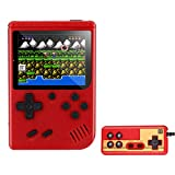 New Handheld Game Console, Retro Mini Game Machine with 500 Classical FC GBA Games 3-Inch Color Screen Support for TV Two Players 1020mAh USB Charging Gift for Kids Boys Boyfriends and Adult (Red)