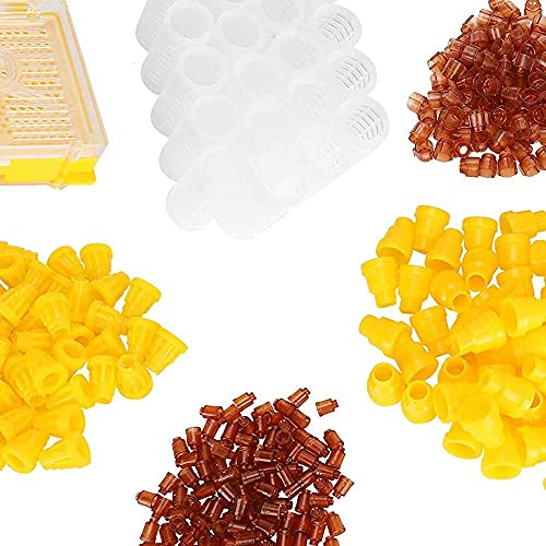 Gmasuber Equipo de apicultura, caja de cría de abejas firmes, abejas de plástico para animales