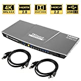 TESmart 4fach HDMI KVM Switch – 4K Ultra HD mit