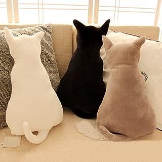 lightclub Cute Cat Soft Plush Back Shadow Toy Sofa Pillow Seat Cushion Birthday Gift for Boys or Girls Room Grey 45 cm