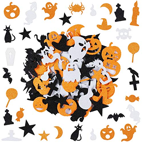 Halloween Foam Stickers Glitter Foam Stickers Self Adhesive Stickers for Kids Halloween Party Crafts Decoration