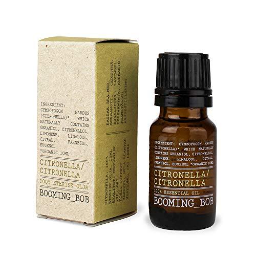 Booming Bob Aceite esencial puro de citronela, orgánico, todo natural, 10 ml