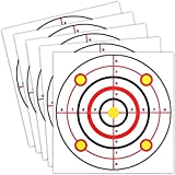 Juvale Shooting Range Paper Bullseye Targets for Firearms Practice (11 x 11 in, 50 Pk)