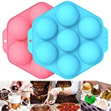 7 Holes Hot Chocolate Bomb Molds 9.6 Inches 2PCS, Hot Cocoa Bomb Silicone Molds, Making Hot...