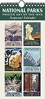 国立公園のポスターアートのWPA Perpetual Calendar