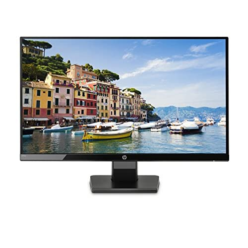 HP 24w Monitor, Schermo 24 Pollici IPS Full HD, Risoluzione 1920 x 1080, Micro-Edge, Antiriflesso, Tempo di Risposta 5 ms, Comandi sullo Schermo, HDMI e VGA, Reclinabile, Nero