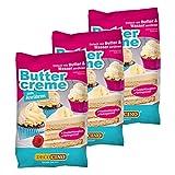 DECOCINO Buttercreme Fertigmischung (3er Set – 3x 250g), zum Einstreichen, Füllen und Garnieren, ideal für Cupcakes, Creme- und Fondant-Torten – Glutenfrei