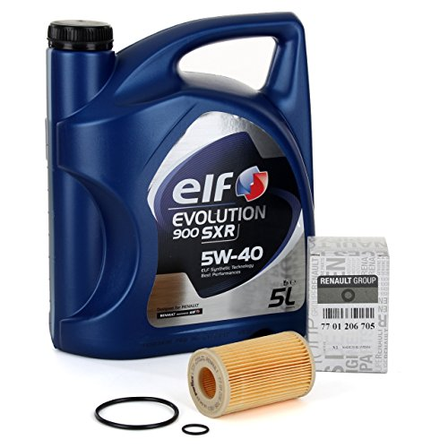 DUO olieverversingsset Elf Evolution SXR 5 W-40, 5 liter + filter Original 7701206705