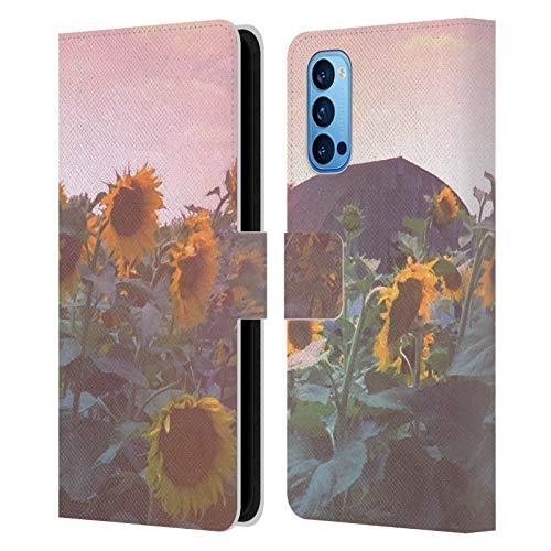 Head Hülle Designs Offizielle Olivia Joy StClaire Sommer Sonnenblumen Natur Leder Brieftaschen Handyhülle Hülle Huelle kompatibel mit Oppo Reno 4 Pro 5G
