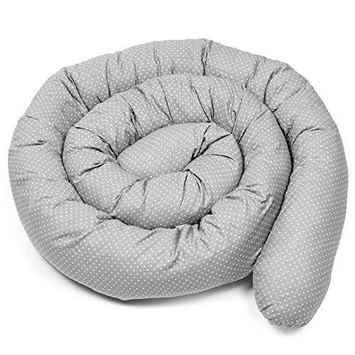Bettschlange baby Nestchenschlange Bettrolle - 290 cm Bettumrandung Babybettschlange Babybett umrandungen Babynestchen für Kinderbett