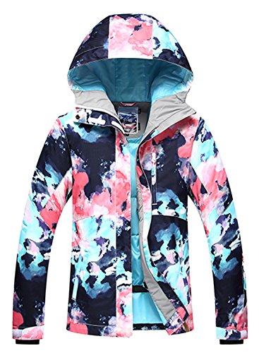 APTRO Damen Skijacke Winter Jacke warm gefüttert Outdoor Funktionsjacke Regenjacke Mehrfarbig 9798 L