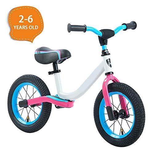 LQ&XL Kinderlaufrad, ohne Pedale Kinder Laufrad Fahrrad, Lauflernrad Balance Bike ab 3-6 Jahre, Sport Fahrrad für Junglen und Mädchen/White