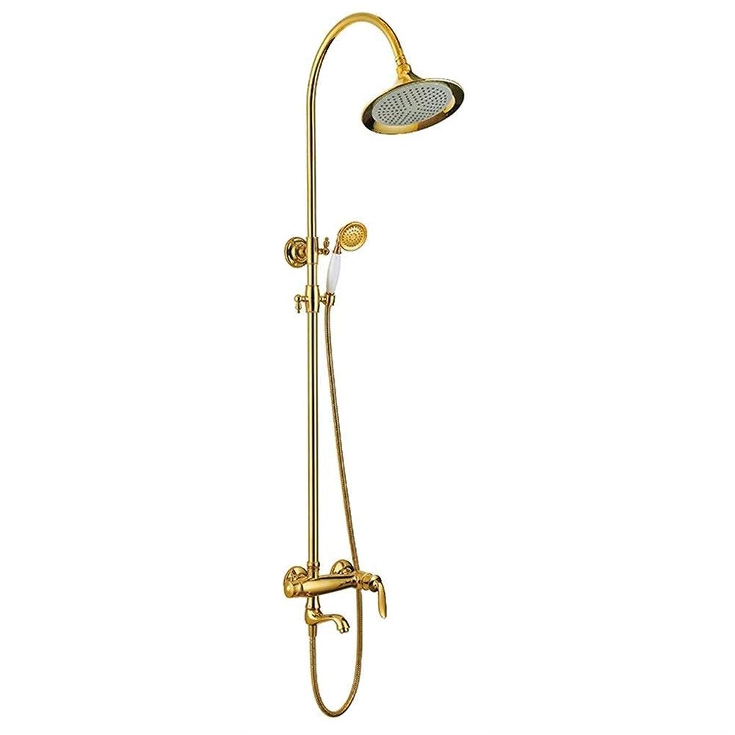 垂直環境に優しい中央WXQ-XQ ハンドヘルドシャワーヘッドキットスライドバー浴室のシャワーヘッドを備えたシャワーセットの雨シャワーセットウォールマウント(バス&シャワーの蛇口のタイプ:インウォールB +アンペア; S水栓)