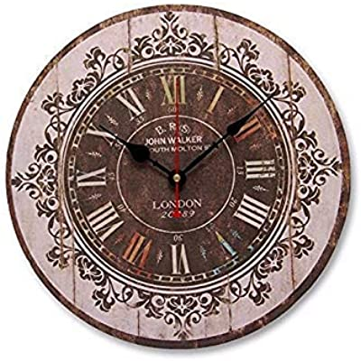 Fiesta Bloomerang Large Wall Clock Tracery Vintage Rustic Shabby Chic Art Decor