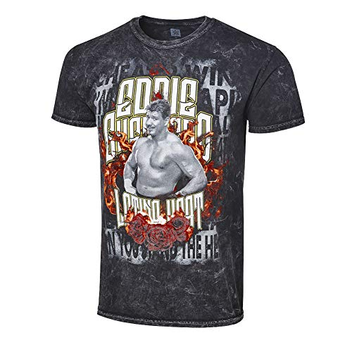 WWE Authentic Wear Eddie Guerrero Latino Heat Mineral Wash T-Shirt Multi Small