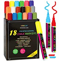 18-Pack Chalktastic Liquid Chalk Markers for Blackboard Signs with Chisel or Fine Tip