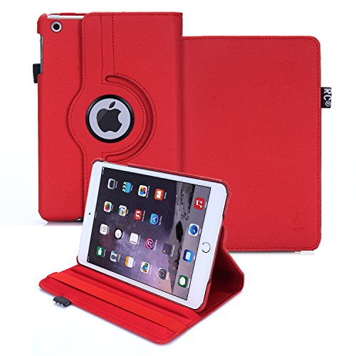 RC Pad Mini Case, iPad Mini Smart Case Cover 2014 Version for Apple iPad Mini All Models iPad Mini 1/2/3, (Red)