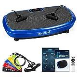 Kwasyo 3D Plataforma Vibratoria, 10 Programas + 99 Niveles, Altavoces Bluetooth, Incluye 5 Bandas de Entrenamiento, 2 Banda de Resistencia, Cargables hasta 150 kg, Entrenamiento en Casa
