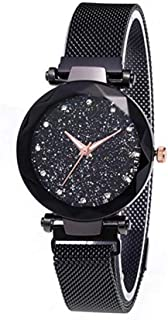 DDI New! Women's Watches with with Magnetic Mesh Band, Adjustable Black