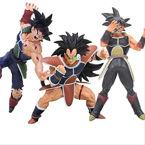 WANGSHAOFENG 3 unids 12-22cm Anime Super Hero Figura Burdock Bardock Son Goku Migatte No GoKui DXF Figura de acción Juguetes Figuras Dragon Ball Super