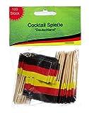 Cepewa - Cocktail-Spieße 'Deutschland' 100 Stück