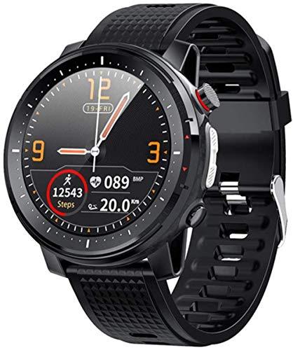 Pantalla Táctil L15 Relojes Inteligentes Más Reloj De Frecuencia Cardíaca Pulsera Inteligente Relojes Deportivos Banda Inteligente Impermeable Reloj Inteligente Android-Negro