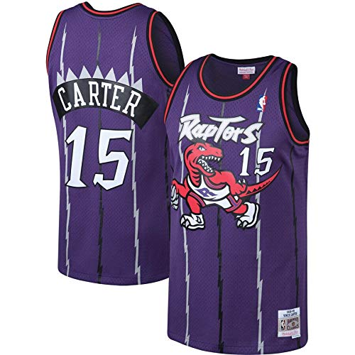 canottejerseyNBA Vince Carter - Toronto Raptors #15, Basket Jersey Maglia Canotta, Swingman Ricamata, Abbigliamento Sportivo (L, Viola Retro)