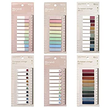 Toosunny 1200 Pieces Tabs 60 Colors Sticky Index Tabs Writable and Repositionable File Tabs Flags for Pages or Book Markers Reading Notes Classify File