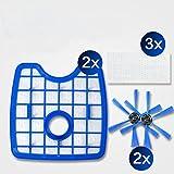 YTT 7 pz / lote aspiradora filtro hepa * 2 + cepillo redondo * 2 + paño de suelo * 3 para Philips Robot FC8820 FC8810 FC8066 accesorios robot