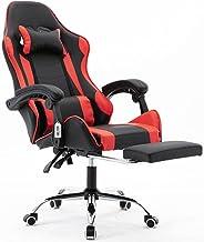 Cadeira gamer com apoio retrátil para os pés reclinável em 70° vermelha V7003p
