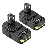 Replacement for Ryobi 18V Lithium Battery 2.5Ah ONE+ Plus P102 P103 P104 P105 P107 P108 P109 P122 Cordless Power Tools 2-Pack