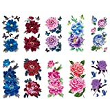 CARGEN 8 Sheets Sexy Rose Tattoos for Women Petal...