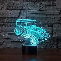 3Dイリュージョンナイトライト レーシングカーの外国貿易の贈り物3DランプUSBタッチカラフルな小さなランプは小さな夜のライトを導いた-A4710_ブルートゥース