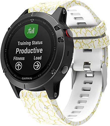 Gransho Correa de Reloj Compatible con Garmin Approach S60 / Approach S62, Silicona Correa Reloj con Acero Inoxidable Hebilla desplegable (Pattern 1)