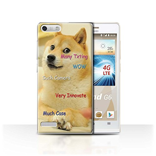 Stuff4® hoes/case voor Huawei Ascend G6 4G / zoek camera patroon/grappige Shibe Doge Meme collectie