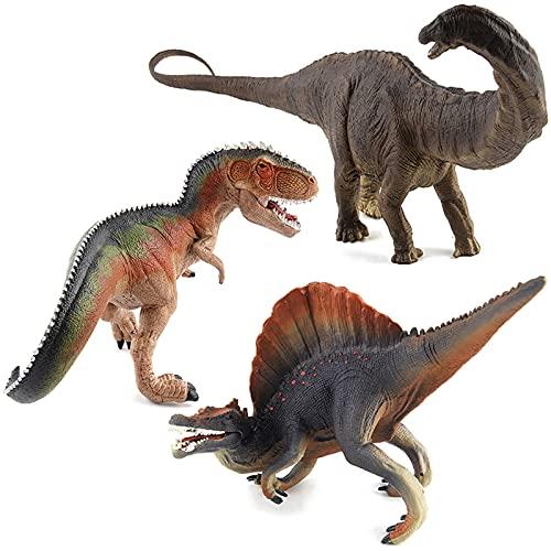 WWYYZ Juguete Modelo De Dinosaurio De 3 Piezas, Figura De Acción De Simulación, Juguete Educativo para Niños, Coleccionable, Suministros De Fiesta, Adornos Estáticos