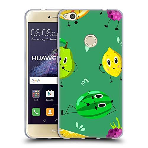 Head Case Designs Oficial Haroulita Tones de Frutas Plantas Carcasa de Gel de Silicona Compatible con Huawei P8 Lite (2017)