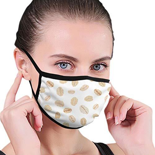 ZVEZVI Haferflocken auf weißem Essen und Trinken Adult Black Rim Mask Atmungsaktives Netzgewebe, waschbares und wiederverwendbares Sturmhaarschwarz