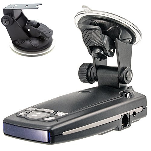 ChargerCity Car Dashboard & Windshield Suction Cup Mount Holder for Escort Passport 9500ix 9500i 8500 8500x50 S55 S75g Solo S2 S3 and Beltronics GX65 RX65 Vector 975 Radar Detectors …