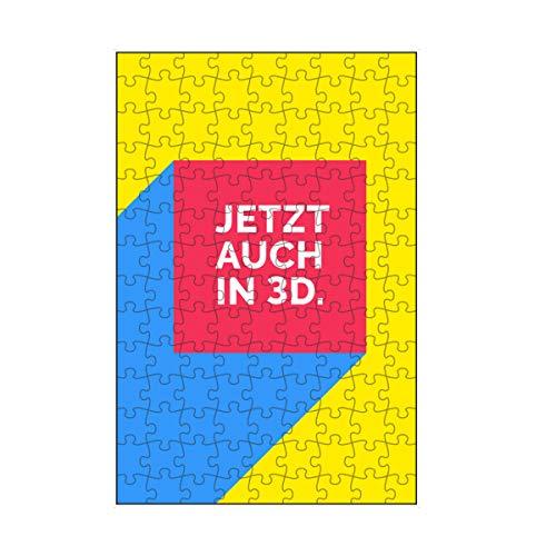 artboxONE-Puzzle S (112 Teile) Typografie Poster in 3D - Puzzle Retro Box Flat