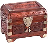 Suge Jewelry Storage Watch Storage Box Home Decorations Wooden Jewelry Box Containing Statues of Mahogany Gift Box (Color : Brown)