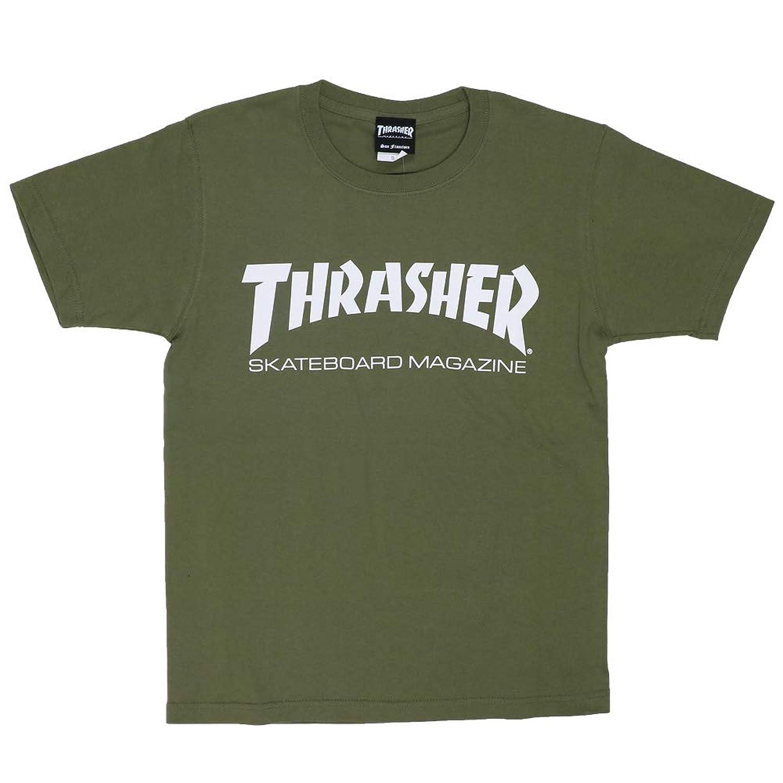 (スラッシャー) THRASHER Tシャツ TH8101HW マグロゴ MAG LOGO カーキ オリーブ LTOLV