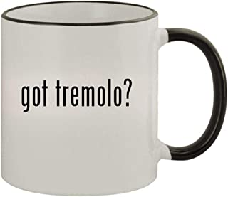 got tremolo? - 11oz Ceramic Colored Rim & Handle Coffee Mug, Black