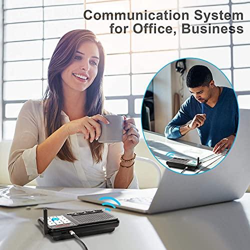 Intercoms Wireless for Home - GLCON Long Range 1 Mile Wireless Intercom System 10 Channel 3 Code - Room to Room Home Intercom System for Business House Office Gate Restaurant Elderly (Pack of 4)