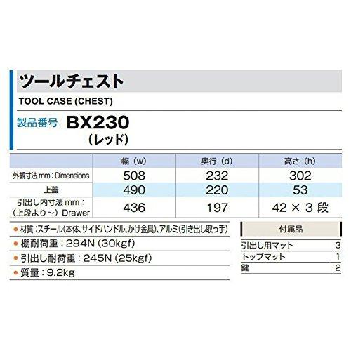 トネ(TONE)ツールチェストBX230レッド