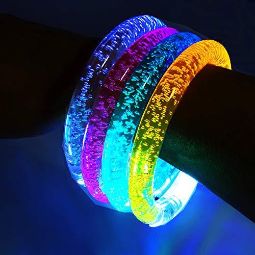 German Trendseller® 12x LED Armreif - Leuchtarmband┃Blinklicht┃ Schulweg┃ Mitgebsel ┃ Kindergeburtstag