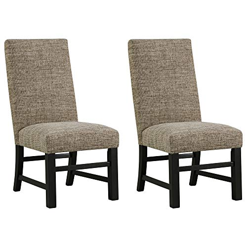 Signature Design by Ashley Sommerford Dining Side Chair Set of 2, Brown and Black