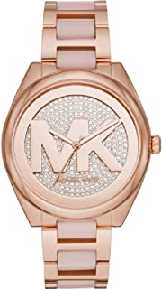 Michael Kors Ladies Janelle Rose Gold Pink Watch MK7089