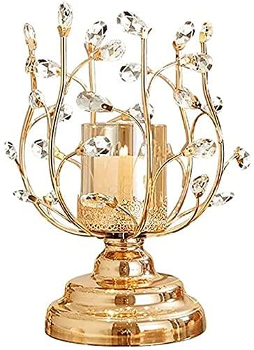 Creative Lotus Candlestick Glass Glass Harde Holder Boda Cocina Mesa Casa Decoración Candlestica (Size : 14.5in/37cm)